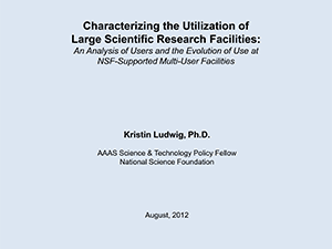Characterizing Utilization of Large Research Facilities | 2015