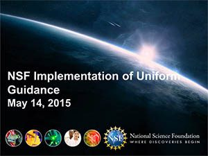 NSF Implementation of Uniform Guidance | 2015