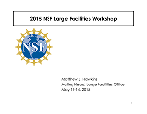 Large Facilities Workshop | 2015