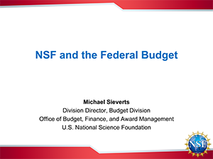 NSF and the Federal Budget | 2016