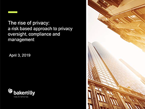 The Rise of Privacy: A Risk-based Approach   2019